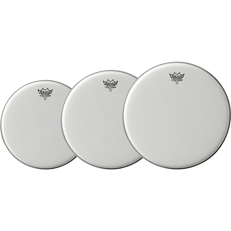 Remo Vintage Emperor Drum Head 3-Pack, 10/12/14