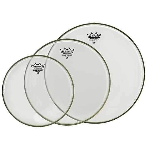 Remo Vintage Emperor Tom Drumhead Pack (Clear) 12, 13, and 16 in. Clear