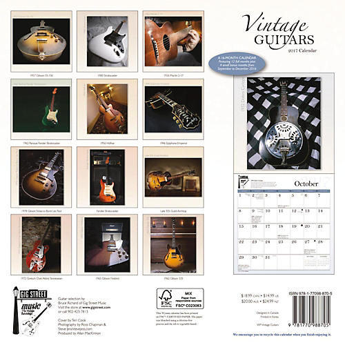 Browntrout Publishing Vintage Guitars 2017 Wyman-thumbnail