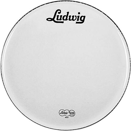 Ludwig Vintage Logo Bass Drumhead White 22 Inch
