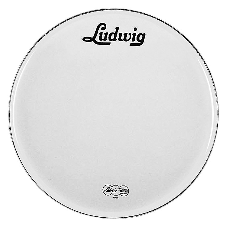 LudwigVintage Logo Bass DrumheadWhite22 Inch