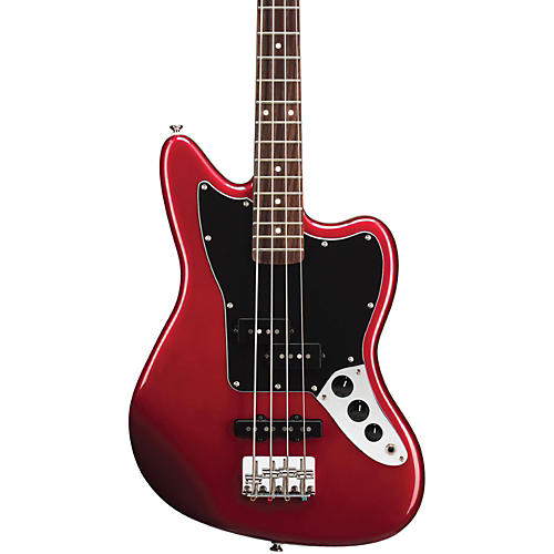 Squier Vintage Modified Jaguar Bass Special SS (Short Scale) Rosewood Fretboard Candy Apple Red