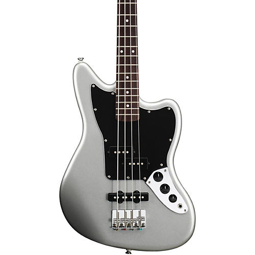 Squier Vintage Modified Jaguar Bass Special SS (Short Scale) Rosewood Fretboard Silver
