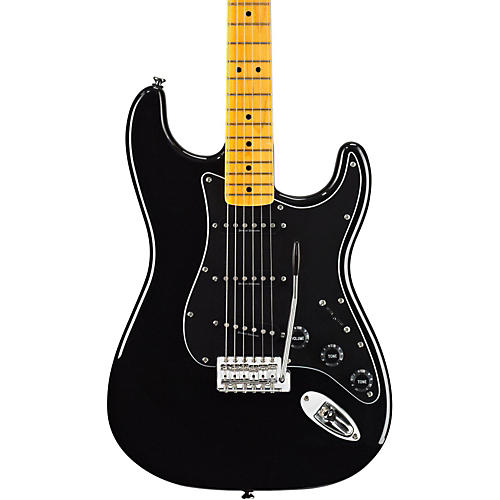 Squier Vintage Modified Stratocaster '70s Electric Guitar Black Maple Fretboard