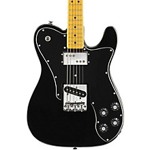 Squier Vintage Modified Telecaster Custom Electric Guitar Black Maple Fingerboard
