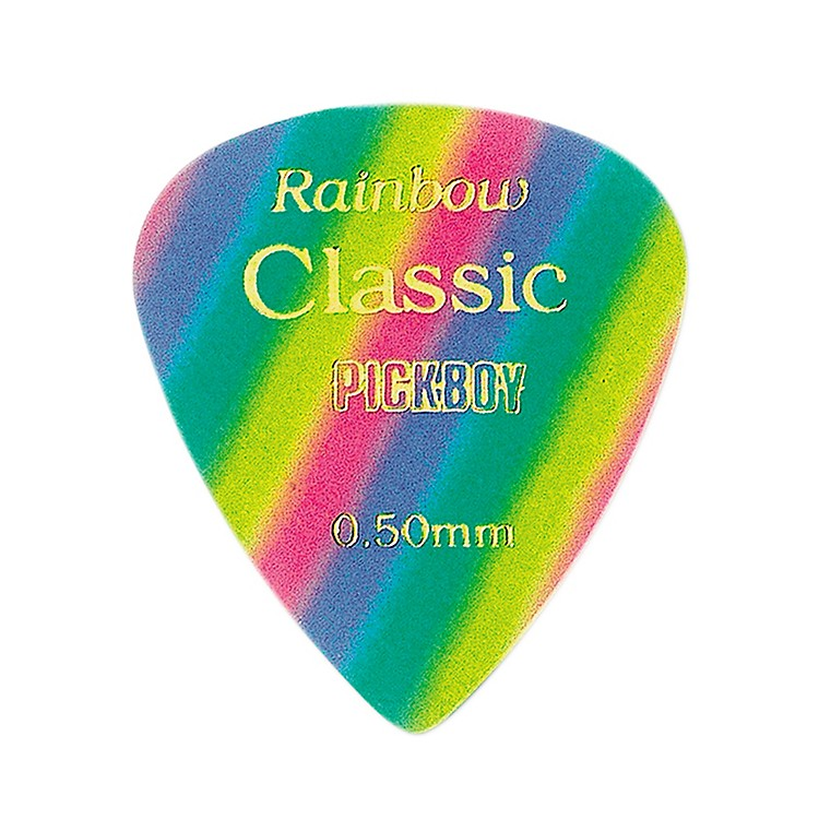 Pick Boy Vintage Pick Celluloid Rainbow (10-pack) .50MM