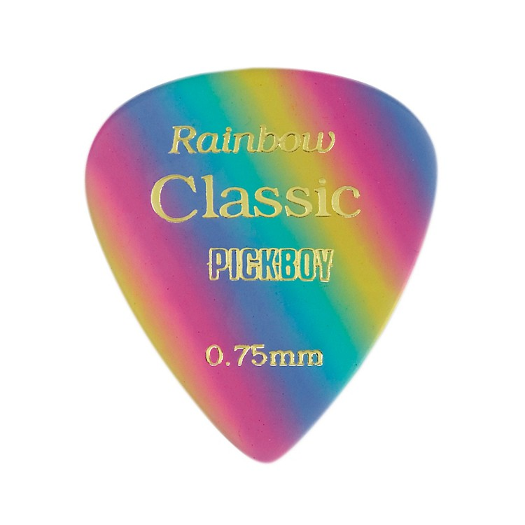 Pick Boy Vintage Pick Celluloid Rainbow (10-pack) 1.00MM