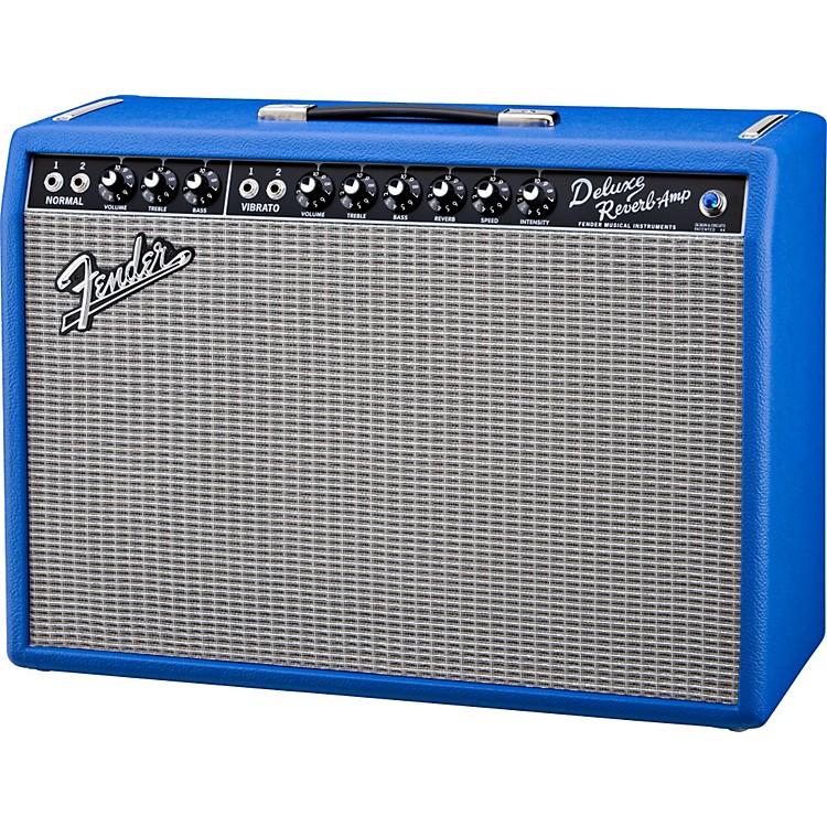 fender vintage reissue 39 65 deluxe reverb electric blue 22w 1x12 tube guitar combo amp musician. Black Bedroom Furniture Sets. Home Design Ideas