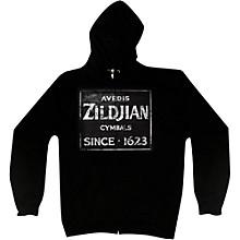 Zildjian Vintage Sign Zip Hoodie Black Large