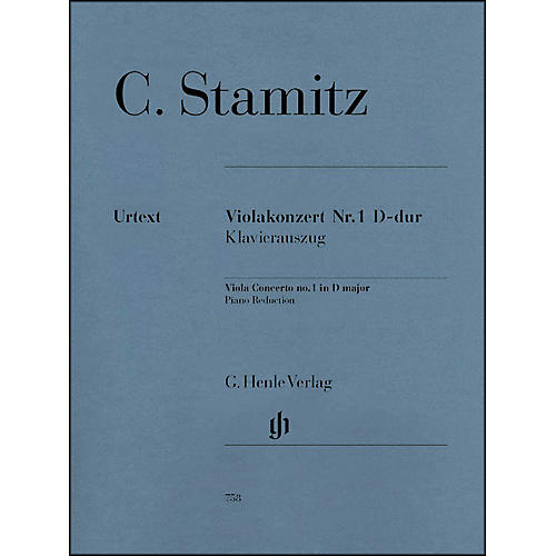 G. Henle Verlag Viola Concerto No. 1 D Major By Stamitz