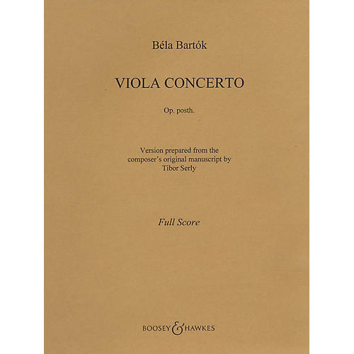 Boosey and Hawkes Viola Concerto, Op. Posth. (Viola and Piano) Boosey & Hawkes Chamber Music Series Composed by Béla Bartók-thumbnail