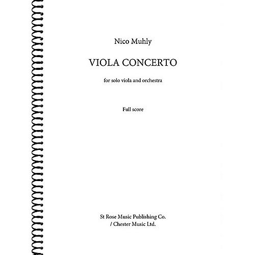 St. Rose Music Publishing Co. Viola Concerto (for Viola and Orchestra (Full Score)) Music Sales America Series Softcover by Nico Muhly-thumbnail