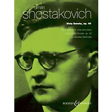 Boosey and Hawkes Viola Sonata, Op. 40 (for Viola and Piano) String Series Composed by Dmitri Shostakovich
