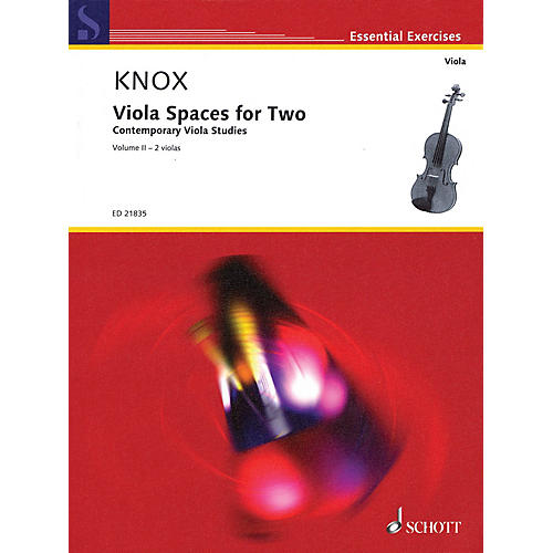 Schott Viola Spaces for Two (Performance Score) String Series Softcover Composed by Garth Knox-thumbnail