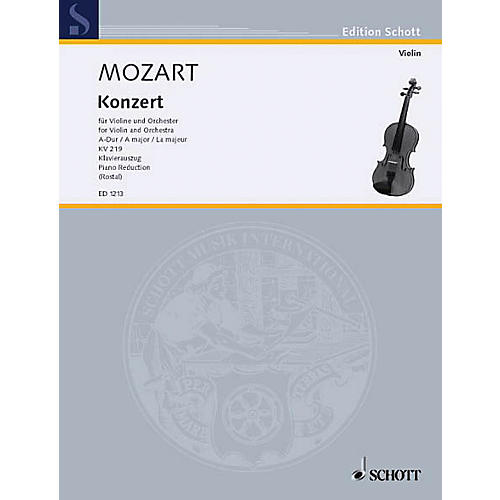 Schott Violin Concerto 5 A Major K. 219 Schott Series