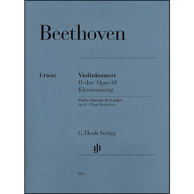 G. Henle VerlagViolin Concerto In D Major Op. 61 Piano Reduction By Beethoven