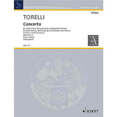 Schott Violin Concerto Op. 8, No. 2 (Score) Schott Series Composed by Giuseppe Torelli