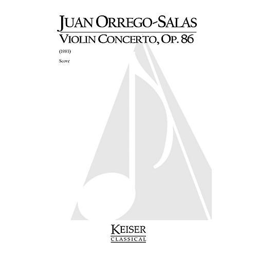 Lauren Keiser Music Publishing Violin Concerto, Op. 86 LKM Music Series Composed by Juan Orrego-Salas-thumbnail