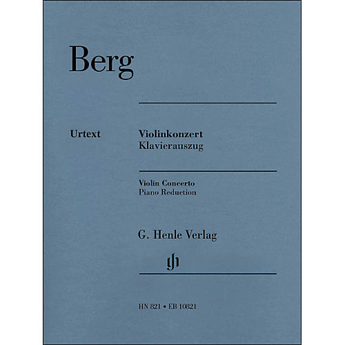 G. Henle Verlag Violin Concerto Piano Reduction By Berg / Kube