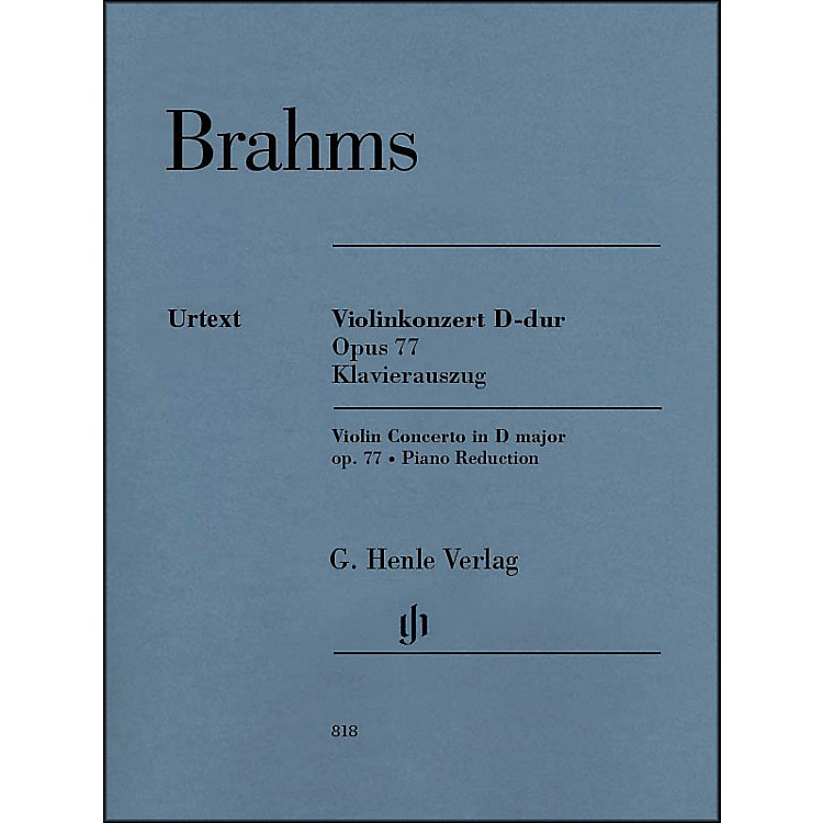 G. Henle Verlag Violin Concerto in D Major, Op. 77 By Brahms