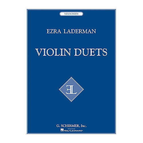 G. Schirmer Violin Duets String Series Composed by Ezra Laderman-thumbnail