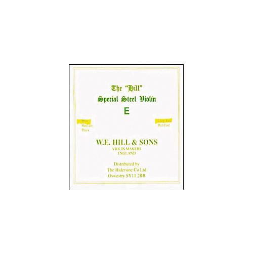 Hill Violin E  String Medium, (Ball End)