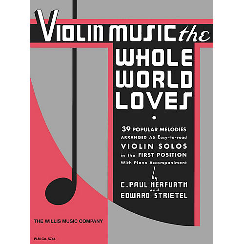 Willis Music Violin Music the Whole World Willis Series-thumbnail