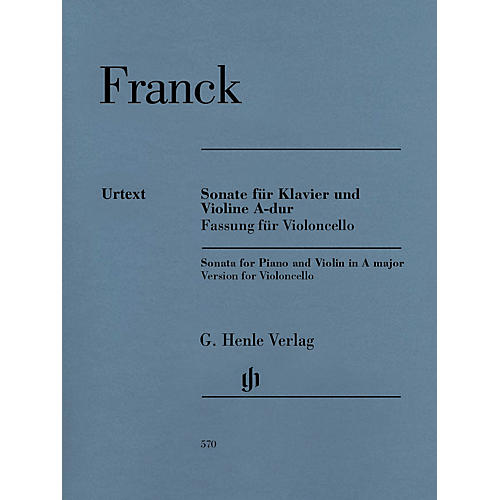 G. Henle Verlag Violin Sonata A Major Henle Music Folios Series Softcover Composed by Cesar Franck Edited by Peter Jost-thumbnail