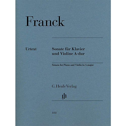 G. Henle Verlag Violin Sonata in A Major (Violin and Piano) Henle Music Folios Series by César Franck