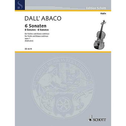 Schott Violin Sonatas Op. 1 Schott Series