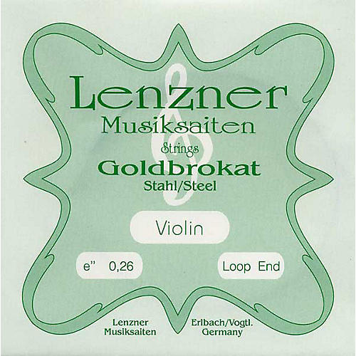 Goldbrokat Violin Strings E, 26 Ga. Loop End