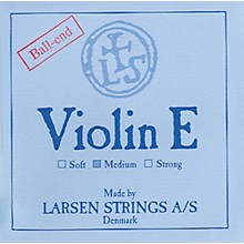 Larsen Strings Violin Strings E, Goldplate Ball, Medium 4/4 Size