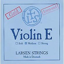 Larsen Strings Violin Strings E, Goldplate Loop, Medium 4/4 Size