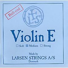 Larsen Strings Violin Strings E, Steel Loop, Medium 4/4 Size