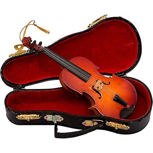 Kurt S. Adler Violin With Bow Wood Ornament
