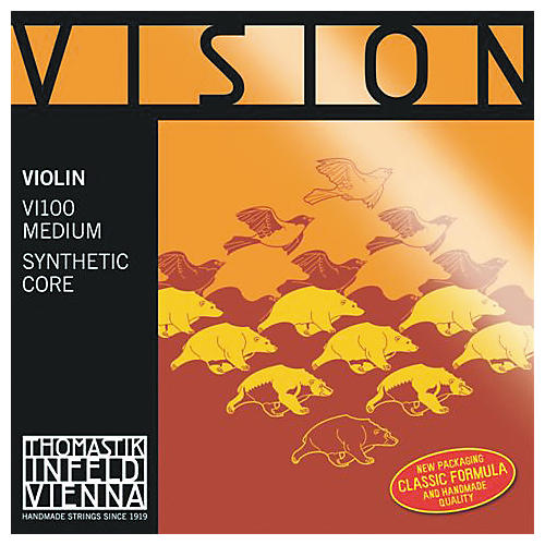 Thomastik Vision 4/4 Violin Strings Medium E, Medium 1/2 Size