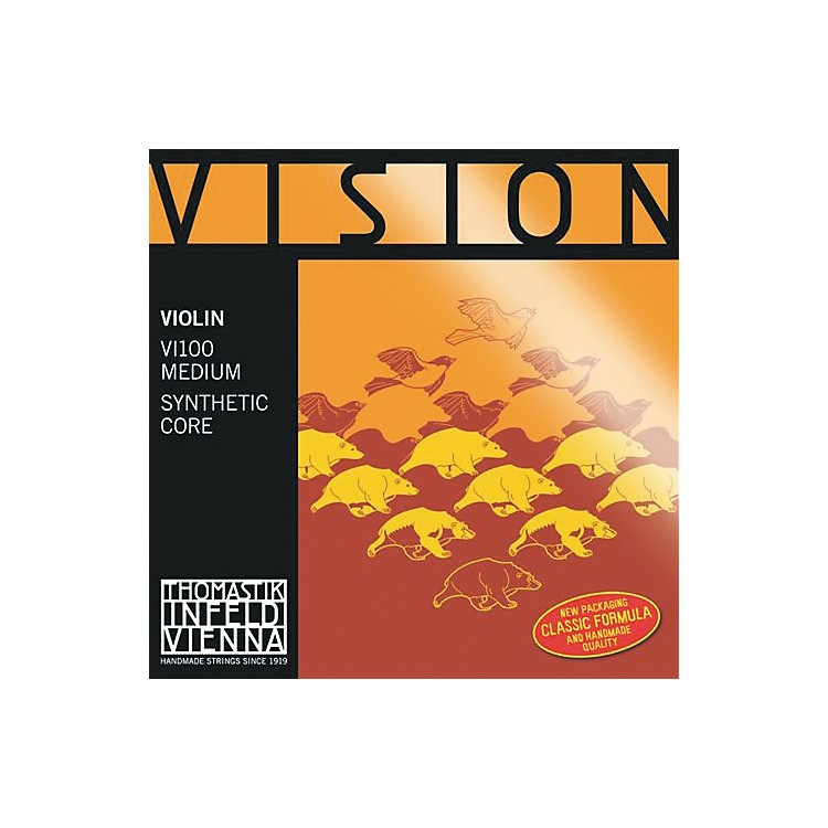 ThomastikVision 4/4 Violin Strings MediumSet, Silver D4/4 Size