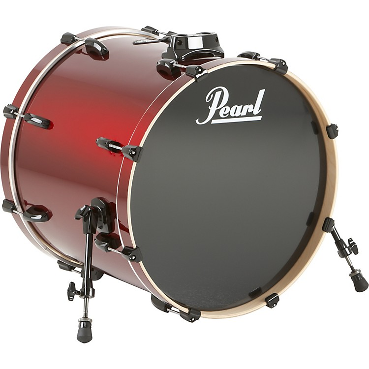 Pearl Vision Birch Bass Drum Jet Black 22x18