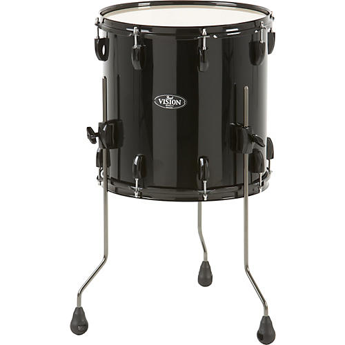 Pearl Vision Birch Floor Tom Jet Black 14x14