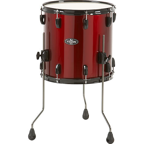 Pearl vision birch floor tom wine red 16 x 16 in for 18 inch floor tom for sale
