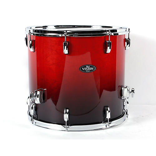 Pearl vision birch lacquer floor tom ruby fade 18 x 16 in for 18x18 floor tom