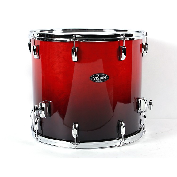 Pearl Vision Birch Lacquer Floor Tom Ruby Fade 18X16