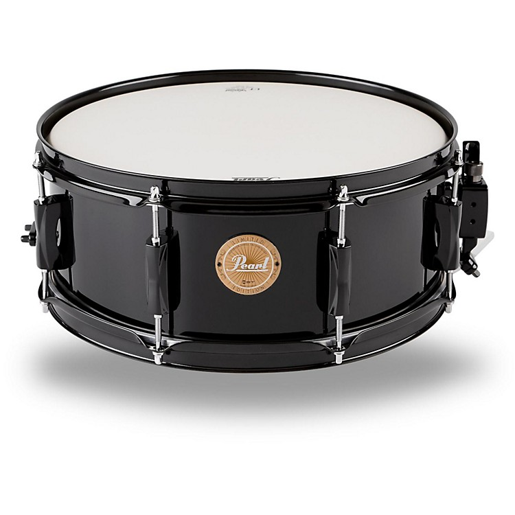 Pearl Vision Birch Snare Drum Black with Black Hardware 14x5.5