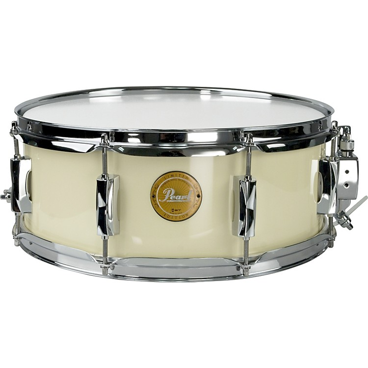 Pearl Vision Birch Snare Drum Ivory with Chrome Hardware 14x5.5