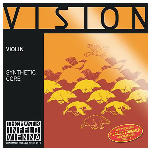 Thomastik Vision Titanium Orchestra Violin Strings D, Silver 4/4 Size