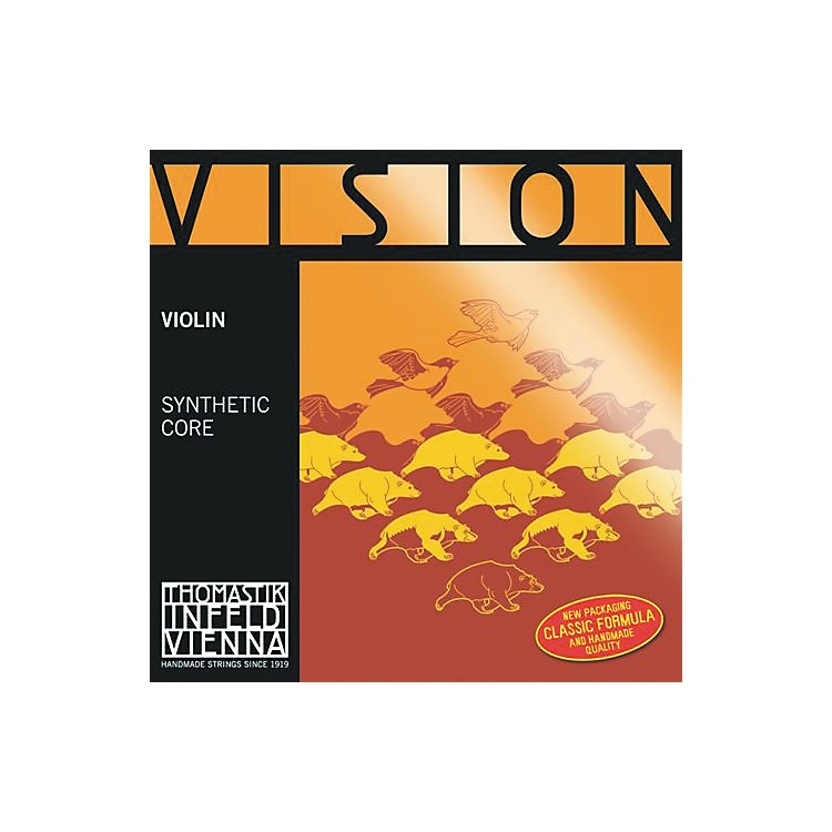 ThomastikVision Titanium Orchestra Violin StringsG, Silver4/4 Size