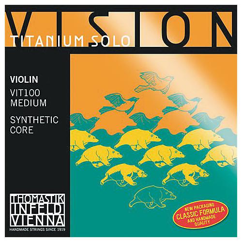 Thomastik Vision Titanium Solo Violin Strings D, Titanium 4/4 Size