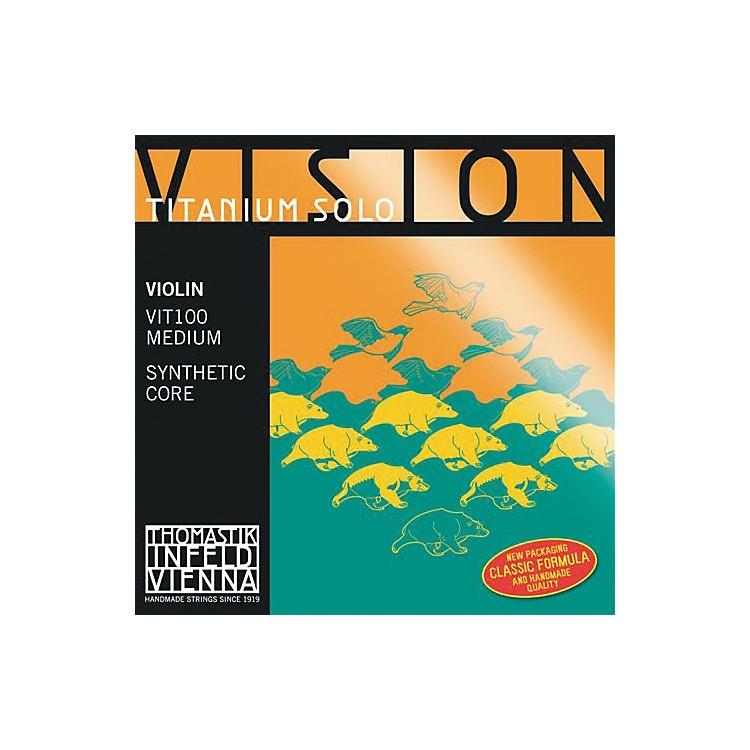 ThomastikVision Titanium Solo Violin StringsSet, Titanium4/4 Size