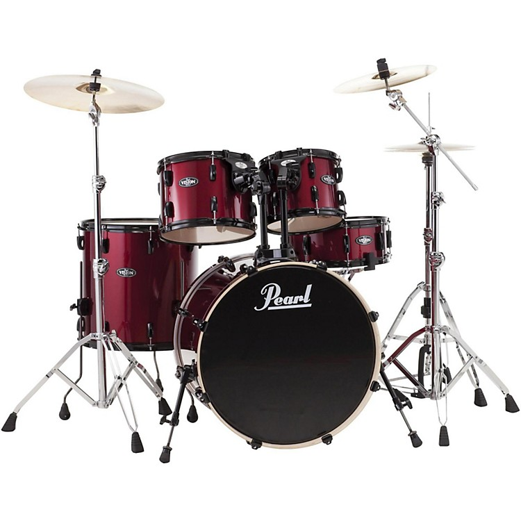 Pearl Vision VX 5 Piece Standard Shell Pack Red Wine