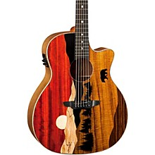 Open BoxLuna Guitars Vista Bear Acoustic-Electric Guitar